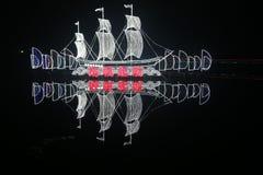 Exposition de lanterne à Chengdu, porcelaine Photos libres de droits