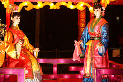Exposition de lanterne à Chengdu, porcelaine Images libres de droits