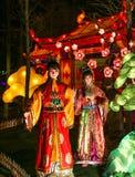 Exposition de lanterne à Chengdu, porcelaine Photos stock