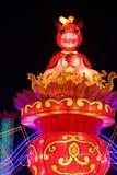 Exposition de lanterne à Chengdu, porcelaine Photo stock