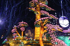 Exposition de lanterne à Zigong, porcelaine en 2014 Images stock