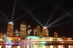 Exposition de laser photo stock
