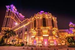 Exposition de laser de casino de galaxie photographie stock libre de droits