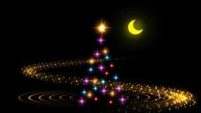 Exposition de laser d'arbre de Noël banque de vidéos