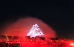 Exposition de laser dans Sentosa, Singapour Image stock