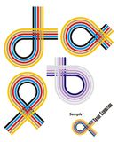 Exposition de logo/juste Images stock