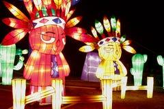 Exposition de lumière d'Indiens Photo libre de droits