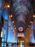 Exposition de lumière de cathédrale photo libre de droits
