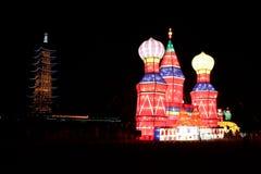 Exposition de lumière de château Image stock