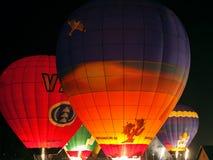 Exposition de lumière de nuit avec des ballons Image stock