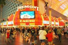 Exposition de lumière de visibilité de Viva au fremont à Las Vegas Image libre de droits