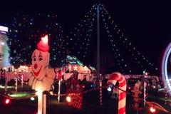 Exposition de lumière de village de Noël Image libre de droits