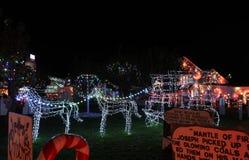 Exposition de lumière de village de Noël du ` s de Koziar Photo stock