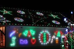 Exposition de lumière de village de Noël du ` s de Koziar Image stock