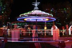 Exposition de lumière de village de Noël du ` s de Koziar Photo libre de droits