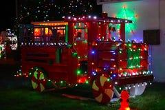 Exposition de lumière de village de Noël du ` s de Koziar Images libres de droits