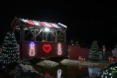 Exposition de lumière de village de Noël du ` s de Koziar Images stock
