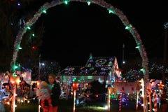 Exposition de lumière de village de Noël du ` s de Koziar Photographie stock