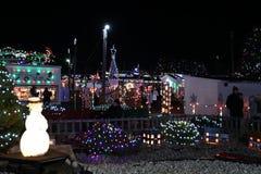 Exposition de lumière de village de Noël du ` s de Koziar Photos libres de droits