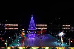Exposition de lumière de village de Noël du ` s de Koziar Photographie stock libre de droits