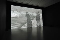 Exposition de Michal Rovner (Israël) à Moscou Photos stock