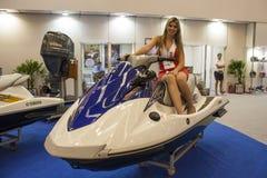 Exposition de moto 2012 - le Brésil - le São Paulo Photographie stock libre de droits