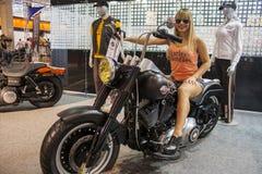 Exposition de moto 2012 - le Brésil - le São Paulo Images libres de droits