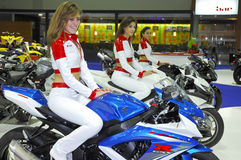 Exposition de moto Photographie stock libre de droits