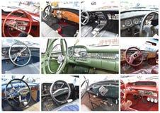 Exposition de New York d'onze voitures de vue de tableau de bord rétro Photo libre de droits
