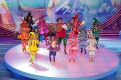 Exposition de Noël des enfants Images stock