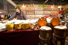Exposition de nourriture d'an de lapin à Chongqing, Chine Photographie stock