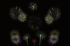 Exposition de nuit de feux d'artifice au Royaume-Uni Photographie stock