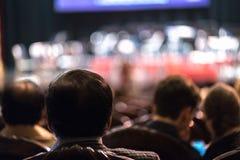 Exposition de observation de concert d'assistance dans le théâtre Photo libre de droits