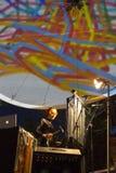 Exposition de Paraboles par la société de Cie Off pendant le B-FIT Fes Image stock