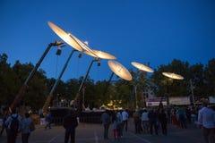 Exposition de «Paraboles» par la société de Cie Off pendant le FB Images stock