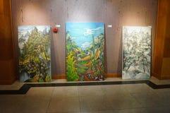 Exposition de peinture à l'huile Photos libres de droits