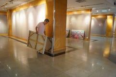 Exposition de peinture à l'huile Images libres de droits