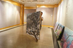 Exposition de peinture à l'huile Photos stock