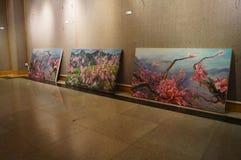Exposition de peinture à l'huile Image stock