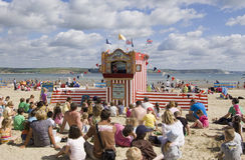 Exposition de perforateur et de Judy, Weymouth Photo libre de droits