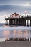Exposition de pilier de Manhattan Beach longue Images stock