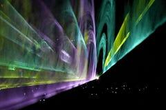 Exposition de projection de laser Photographie stock