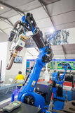 Exposition de robot industriel Photo stock
