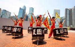 Exposition de rue de Hong Kong Photographie stock libre de droits