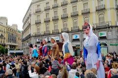 Exposition de rue de marionnette à Madrid Images stock