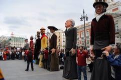 Exposition de rue de marionnette à Madrid Photographie stock libre de droits