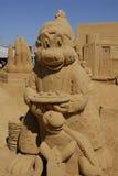 EXPOSITION DE SCULPTURES EN SABLE : HUNDESTED HABOUR Image libre de droits