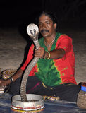 Exposition de serpent au Sri Lanka Photos stock