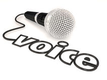 Exposition de talent de chant de Word de corde de microphone de voix Images stock