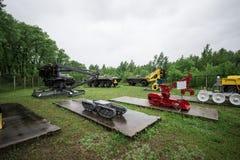 Exposition de technique utilisée dans la liquidation Chernobyl Photographie stock